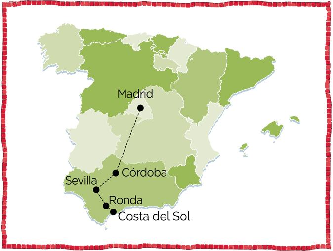 Cordoba, Seville, Ronda, Costa del Sol madrid tour spain andalusia sevilla