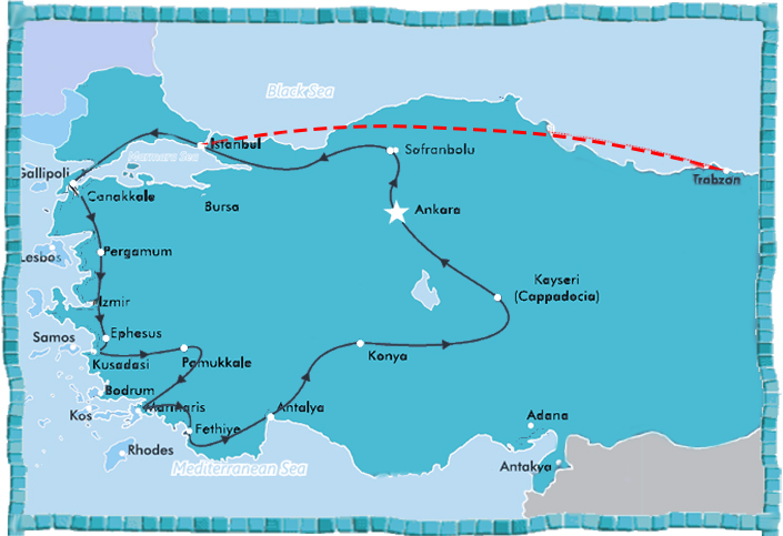 Turkey Guaranteed Departure Regular Coach Tour 16 day Anotolian Discovery