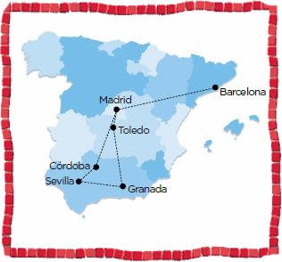 andalucia barcelona toledo coach tour