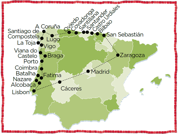 La Coruna Oviedo Porto Portugal Spain Coimbra Tour