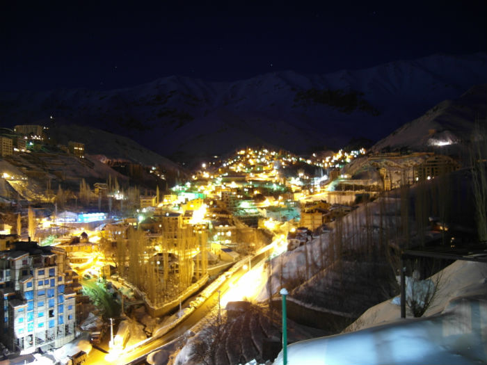 Dizin Ski Resort at Night, Iran
