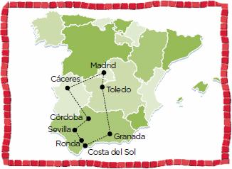 Andalusia tour madrid sevilla cordoba caceres malaga marbella costa del sol granada alhambra toledo