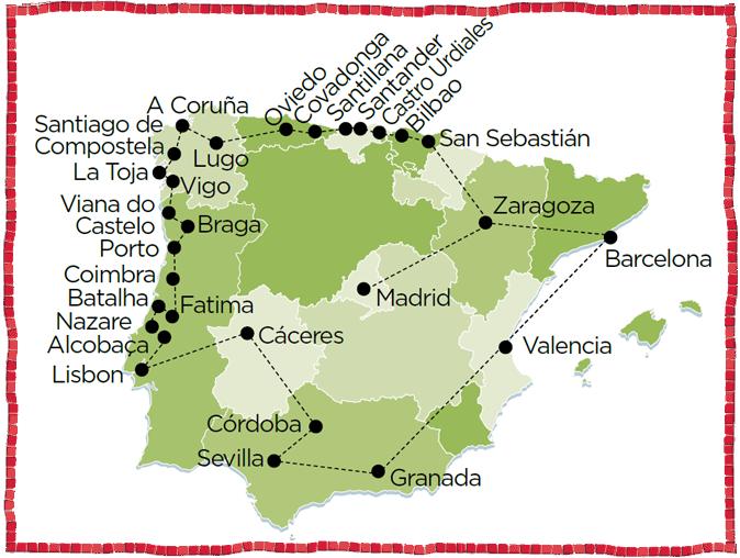Santiago de Compostela San Sebastian A Coruna North of Spain Tour Braga Porto Oporto Lisoba Coimbra